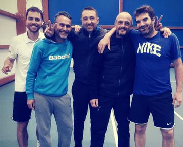 +35 ans Equipe 1 : Jean Marc, Anthony J, Anthony H, Arnaud et Kévin