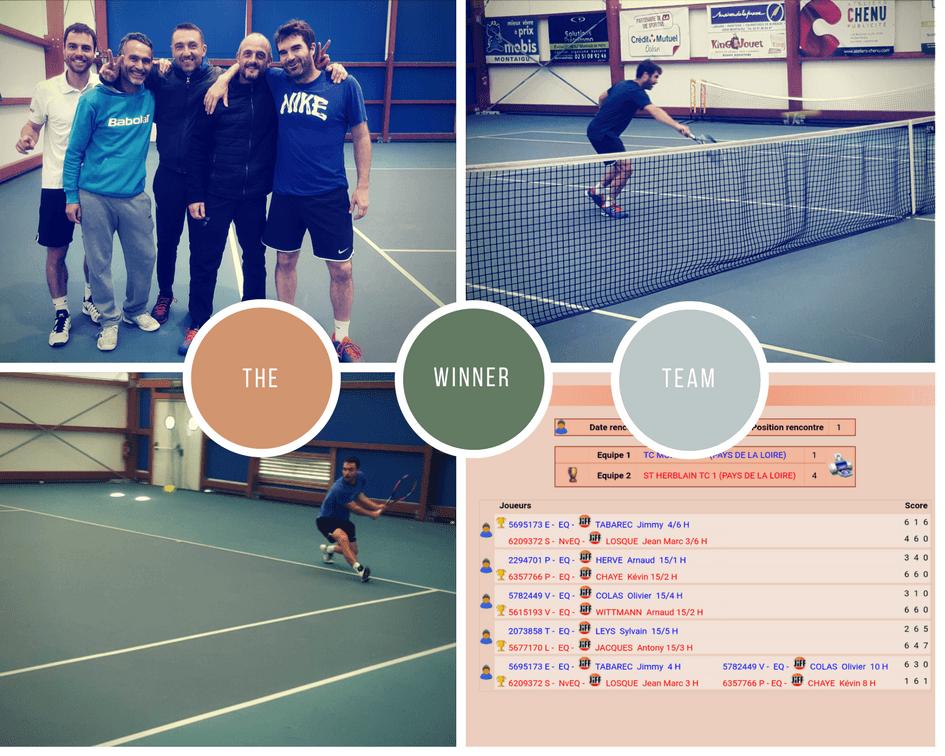 +35 ans Equipe 1 vs TC Montaigu