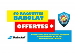 Le SHTC offre 50 raquettes Babolat