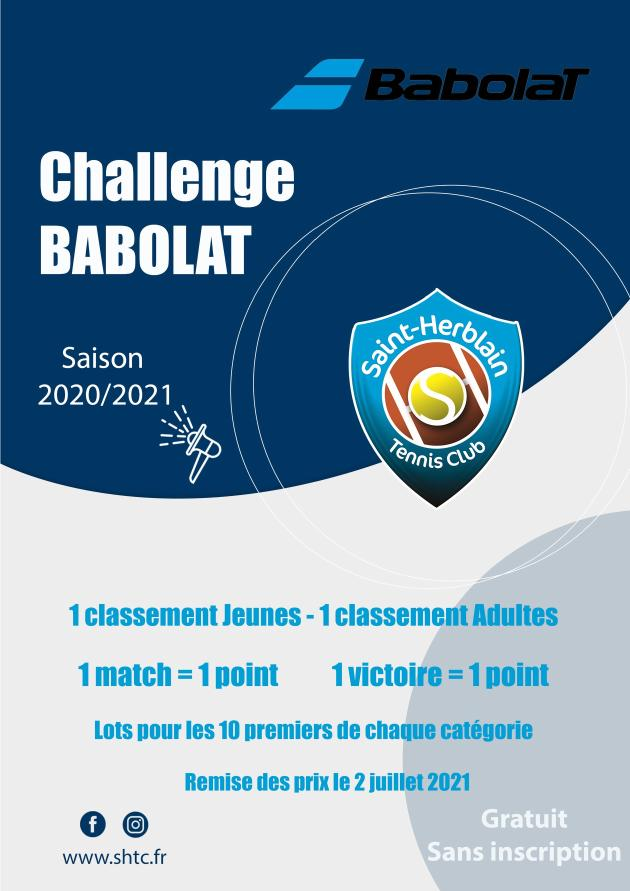 Le Challenge Babolat : une nouveauté du SHTC !